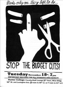 Budget Cuts Poster