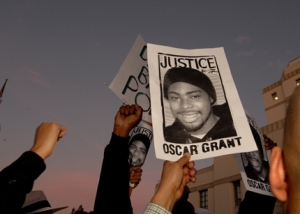 RALLY AGAINST POLICE BRUTALITY AND IN MEMORY OF OSCAR GRANT IN O
